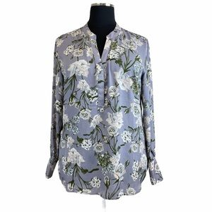 Kut from The Kloth XXL Tunic Floral Top Blouse